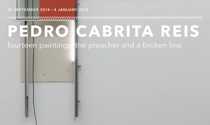 Pedro Cabrita Reis: fourteen paintings, the preacher and a broken line